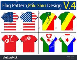 flag polo shirt designs international vector stock vector 75684508