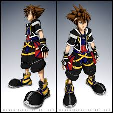 Sora Halloween Town Figure by Kingdom Hearts Sora Cell Shading Pinterest