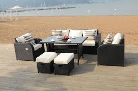 patio sofa dining set lotus rattan garden furniture set sofa dining table chairs