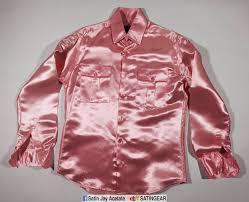 shiny tailormade pink acetate satin mens dress u0027silk u0027 shirt