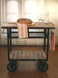 Industrial Style Kitchen Trolley Island ON Metal Wheels Brand NEW