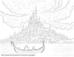 Disneys Tangled Coloring Pages Sheet Free Disney Printable