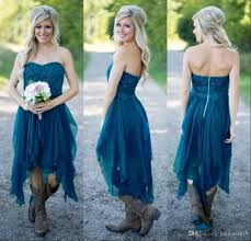 country bridesmaid dresses 2017 short cheap for wedding teal