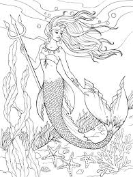 Creative Haven Mermaids Coloring Sheets
