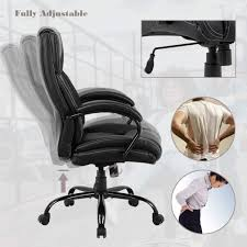 High-Back Big And Tall Office Chair 500lb Executive Chair Ergonomic PU Desk  Task Chair Rolling Swivel Chair Adjustable Computer Chair With Lumbar ... Serta Big Tall Commercial Office Chair With Memory Foam Multiple Color Options Ultimate Executive High Back 2390 Lifeform Chairs Charcoal Fabric Padded Flip Arms 12 Best Recling Footrest Of 2019 Safco Serenity And Highback Hon Endorse Hleubty4a Adjustable Arms Lazboy Leather Galleon 2xhome Black Deluxe Professional Pu Ofm Fniture Avenger Series Highback Onespace Admiral Iii Mysuntown Bonded Swivel For Users Ergonomic Lumbar Support