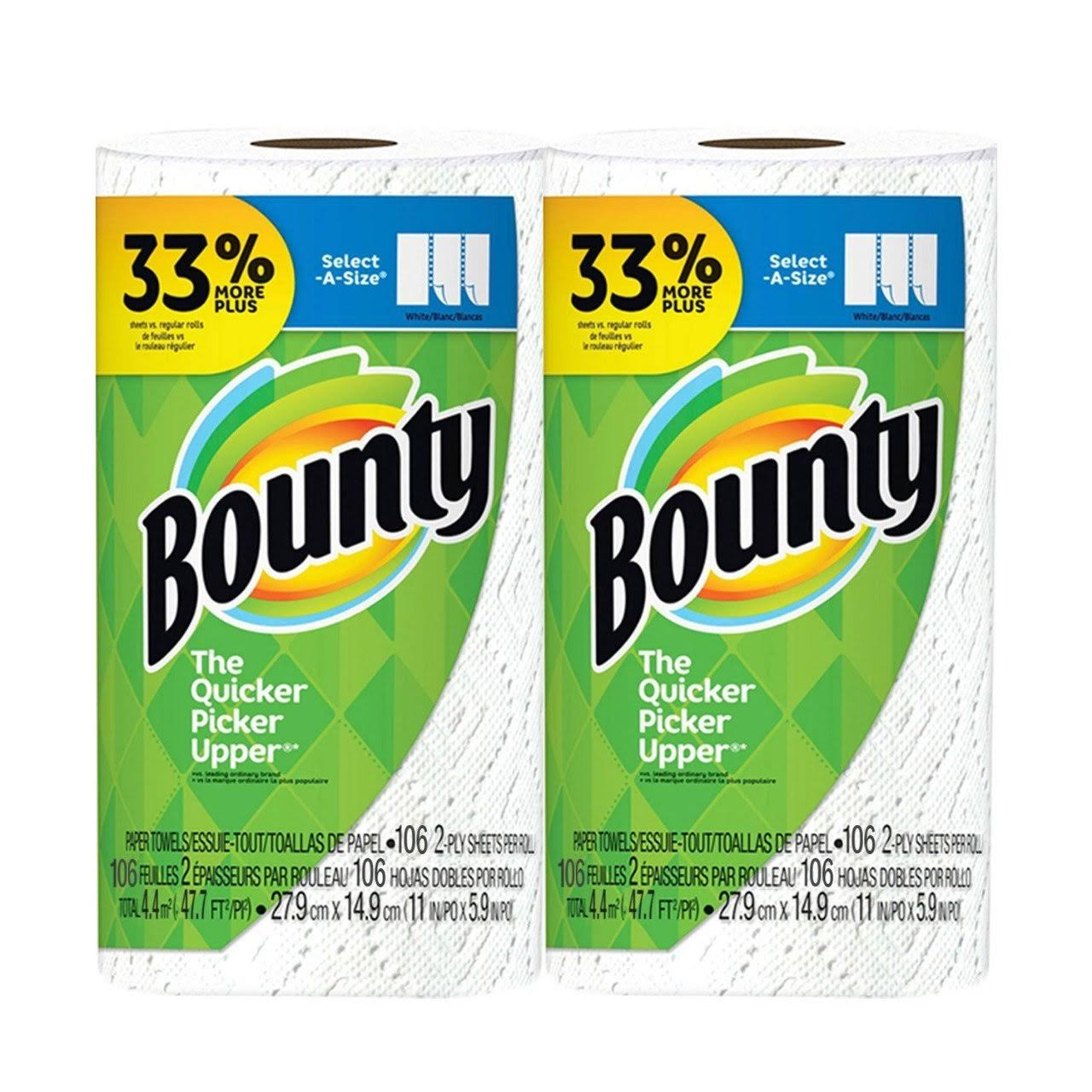 Bounty Select-A-Size Big Roll Paper Towel (2-Ply 106 Sheets) - Royal Supermarket - Delivered by Mercato