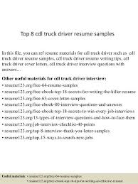 Cdl Truck Driver Resume Best Of Examples Sarahepps Com