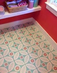 Flower Folk Peel Stick Decorative Decals Painted Vinyl FloorsVinyl TilesAdhesive
