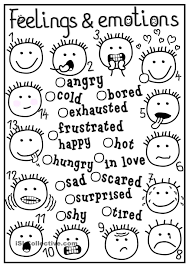 Feeling Coloring Pages Emotions Page With Within