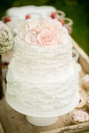White Buttercream Ruffles Wedding Cake