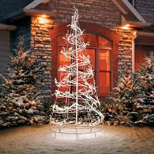Spiral Lighted Christmas Trees Outdoor by 6 U0027 Led Spiral Tree Outdoor Christmas Decoration Improvements Catalog