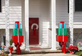 Outdoor Christmas Decorations Ideas To Make by Diy Outdoor Christmas Gift Boxes Rainforest Islands Ferry