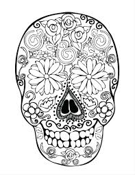 Book Page Free Skull And Rose Coloring Pages Printable Day Dead Images Dark Roses Skulls Of
