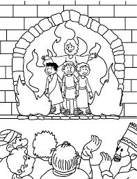 The Fiery Furnace Coloring Page Pages Are A Great Way To End