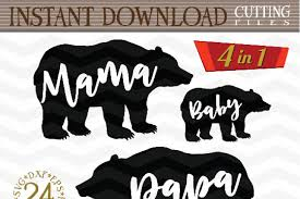 Mama Bear Papa And Baby SVG
