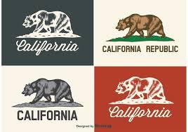 Free Vector California Bear Labels 23144