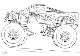 100 Monster Truck Coloring Book IBY7 28 Collection Of