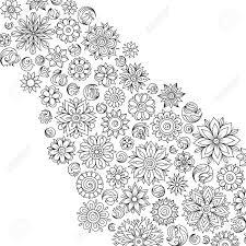Motif Pour Le Livre De Coloriage Ethnique Floral Rétro