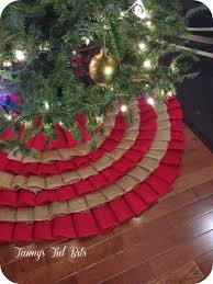 Hobby Lobby Xmas Tree Skirts by Tawny U0027s Tid Bits Burlap Tree Skirt