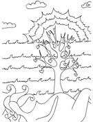A Tree With Hearts Coloring Page