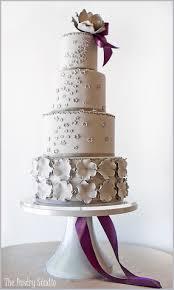 Gray Weddings Purple Wedding Elegant Cakes With Crystals Sleek