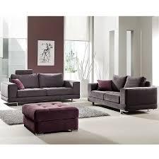 canape 3 2 places salon complet 3 2 places gris en tissu sofamobili