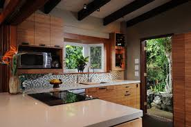 Zen Kitchen Island Style Tropical