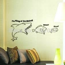 Cartoon Home DecorationSharks Eat Fish Food Chain To Encourage Competition Corporate Office Wall Stickers Warning In From