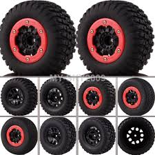 100 4x4 Truck Tires 4 PCSSet RC 110 Short Tyre Nylon Wheel Rim 11043MM