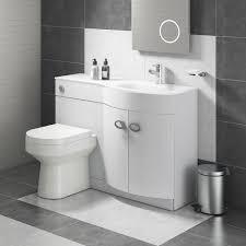 Lorraine Combination Bathroom Toilet Right Hand Sink Unit White