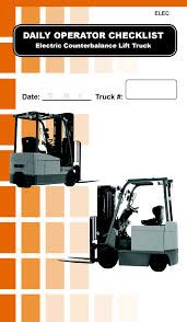 Electric Counterbalance Forklift Daily Checklist Caddy | First ... Wisconsin Forklifts Lift Trucks Yale Forklift Rent Material The Nexus Fork Truck Scale Scales Logistics Hoist Extendable Counterweight Product Hlight History And Classification Prolift Equipment Crown Counterbalanced Youtube Operator Traing Classes Upper Michigan Daewoo Gc25s Forklift Item Da7259 Sold March 23 A Used 2017 Fr 2535 In Menomonee Falls Wi Electric 3wheel Sc 5300 Crown Pdf Catalogue Service Handling