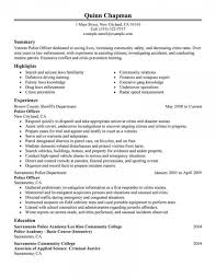 Police Officer Resume Example Templates Emergency Services Classic Awesome Nypd Examples Former New 480