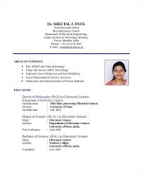 Mechanical Engineer Resume Sample India Electrical Engineering Indian Format
