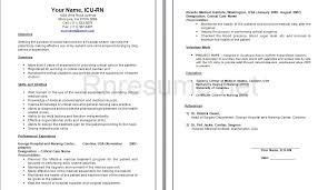 Experienced Nursing Resume Examples Elegant Icu Rn Sample Our Of