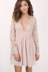 blush shift dress pink dress bell sleeve dress half lace