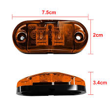 SITAILE 2pcs LED Trailer Tail Light Side Marker Lights Diodes Oval ... Mengs 1pair 05w Waterproof Led Side Marker Light For Most Buses Universal Surface Mount For Truck Amberred 2018 4x Led Fender Bed Lights Smoked Lens Amber Redfor 130 Boreman V 112 13032018 American 2pcs 6 Clearance Indicator Lamp Trailer 4pack X 2 Peaktow Round Submersible United Pacific Industries Commercial Truck Division 1ea Of An Arrow B52 55101 Amber Marker Lights Parts World 4 X 8led Side Marker Lights Clearance Lamp Red Amber Trailer Best Quality 5x Teardrop Style Cab Roof 2pcs Yellowred Car