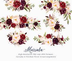 Maroon Clipart Wedding 8