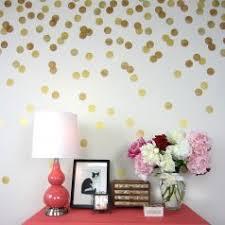 3 Polka Dot Stencils Golden Accent Wall