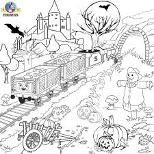 Coloring Page Halloween Pages For Adults Printables Printable Throughout Thomas The Train