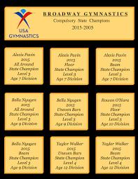 Usag Level 3 Floor Routine 2014 by Broadway Gymnastics Girls Team