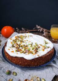 saftiger pistazien mandarinen kuchen mit griechischem joghurt