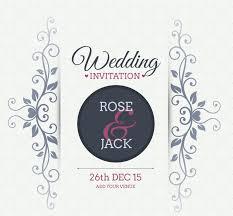 Free Vector Fl Wedding Invitation Card Background Design Vine Backgrounds Freecreatives