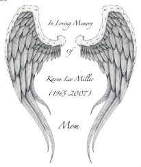 Latest Memorial Angel Wings Tattoo Stencil
