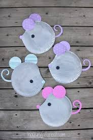 Paper Plate Mouse Easy Kids Craft This Would Be A Cute For Following