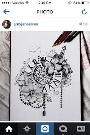 Beautiful Abstract Clock Tattoo Drawn By A Talented Instagram Artist