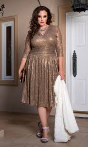 plus size cocktail dress plus size metallic lace dress at