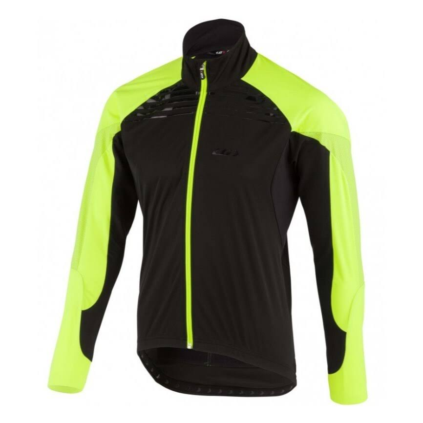 Louis Garneau Men's Glaze RTR Jacket - XXL - Black / Yellow