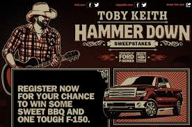 Win A 2014 Ford F-150 In Toby Keith