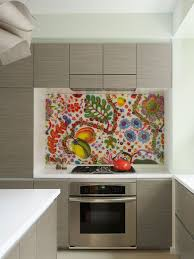 contemporary kitchen decoration using artwork mosaic tile wall