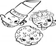 New Free Shopkins Strawberry Lipstick Cookie Coloring Pages